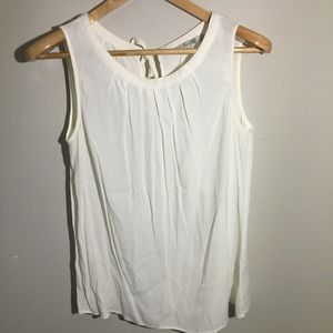 Boden White Tank Top Size 14 Waterfall Front